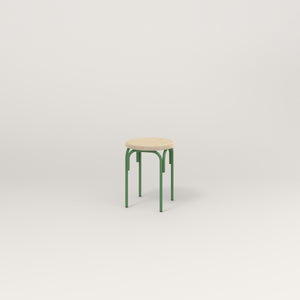 RAD School Simple Stool, Upholstered in sage green powder coat.