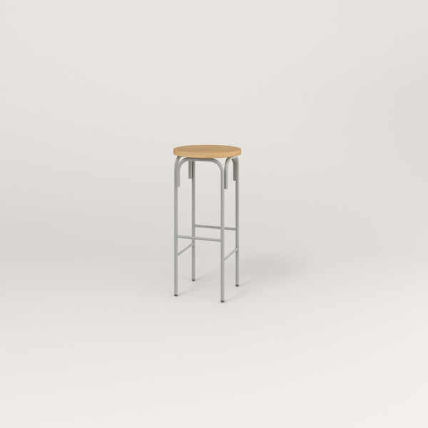 RAD School Simple Stool in white oak europly and grey powder coat.