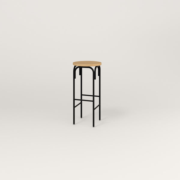 RAD School Simple Stool in white oak europly and black powder coat.