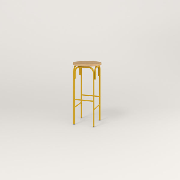 RAD School Simple Stool in white oak europly and yellow powder coat.