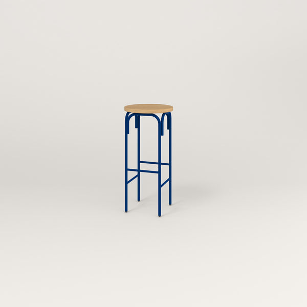 RAD School Simple Stool in white oak europly and new blue powder coat.