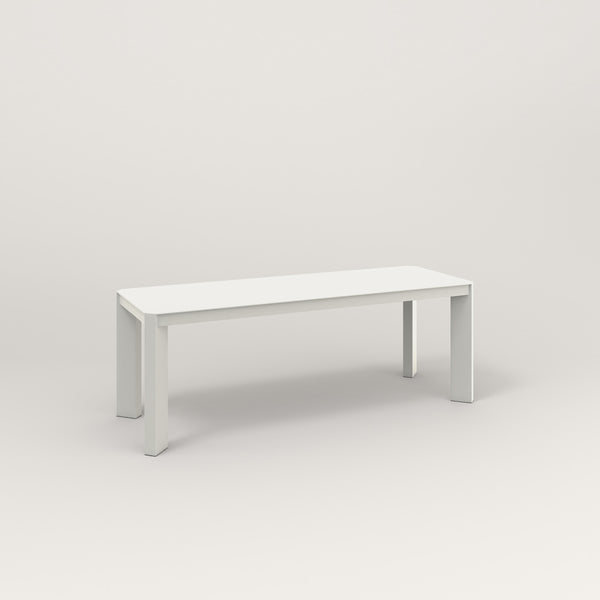 RAD Solid Bench in solid steel and white powder coat.