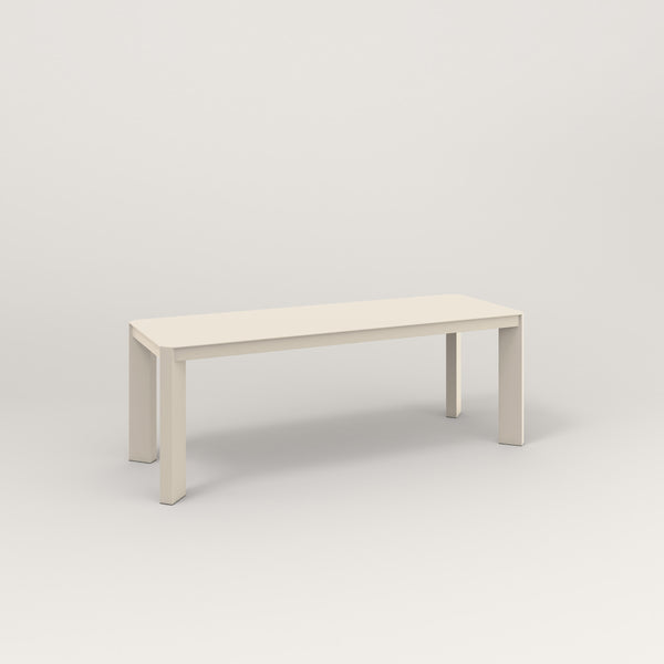 RAD Solid Bench in solid steel and off-white powder coat.