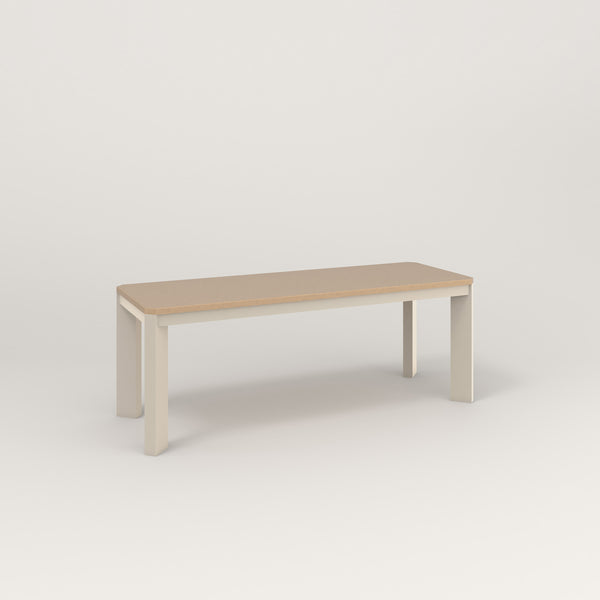 RAD Solid Bench in tricoya and off-white powder coat.
