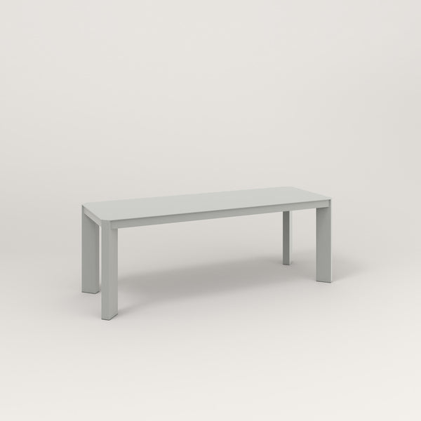 RAD Solid Bench in solid steel and grey powder coat.