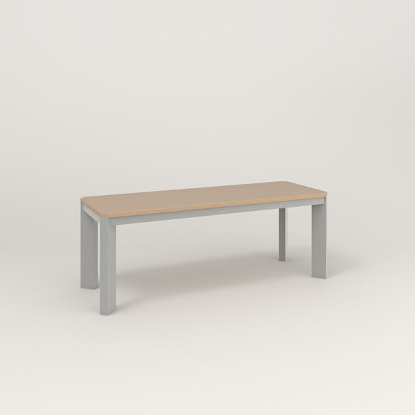 RAD Solid Bench in tricoya and grey powder coat.