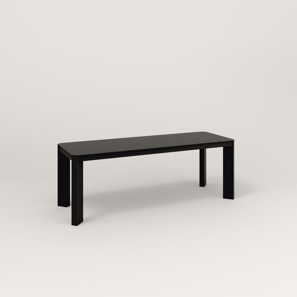 RAD Solid Bench in solid steel and black powder coat.