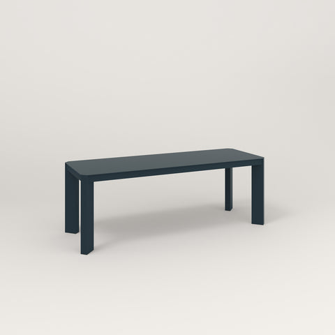RAD Solid Bench in solid steel and navy powder coat.