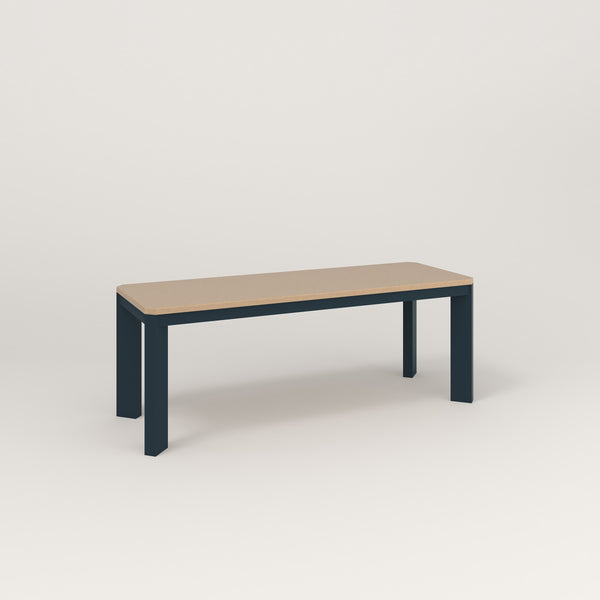RAD Solid Bench in tricoya and navy powder coat.
