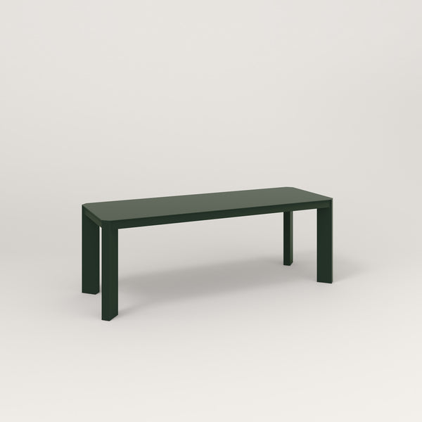 RAD Solid Bench in solid steel and fir green powder coat.