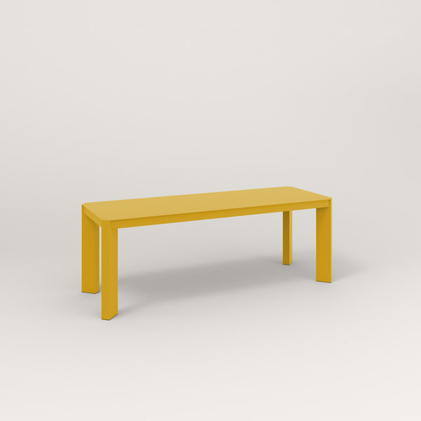 RAD Solid Bench in solid steel and yellow powder coat.
