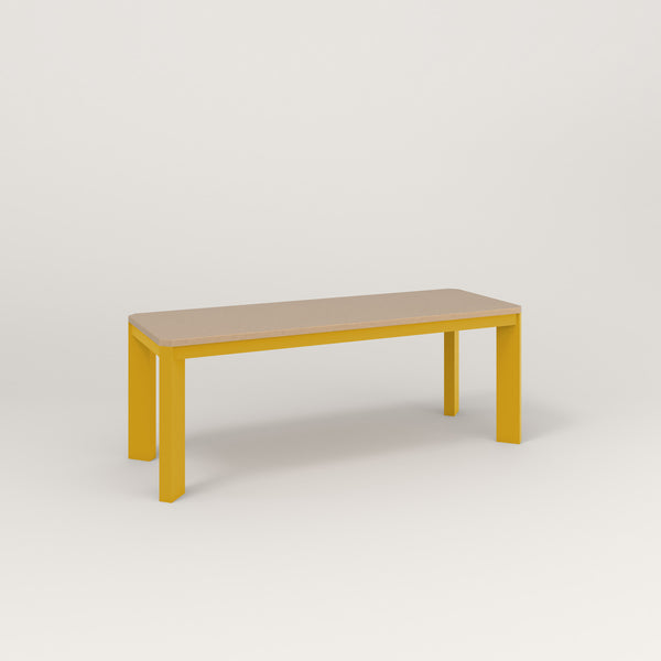 RAD Solid Bench in tricoya and yellow powder coat.