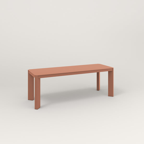 RAD Solid Bench in solid steel and coral powder coat.