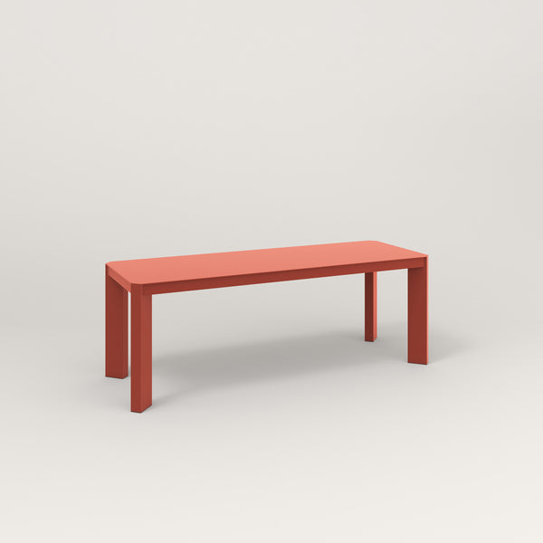 RAD Solid Bench in solid steel and red powder coat.