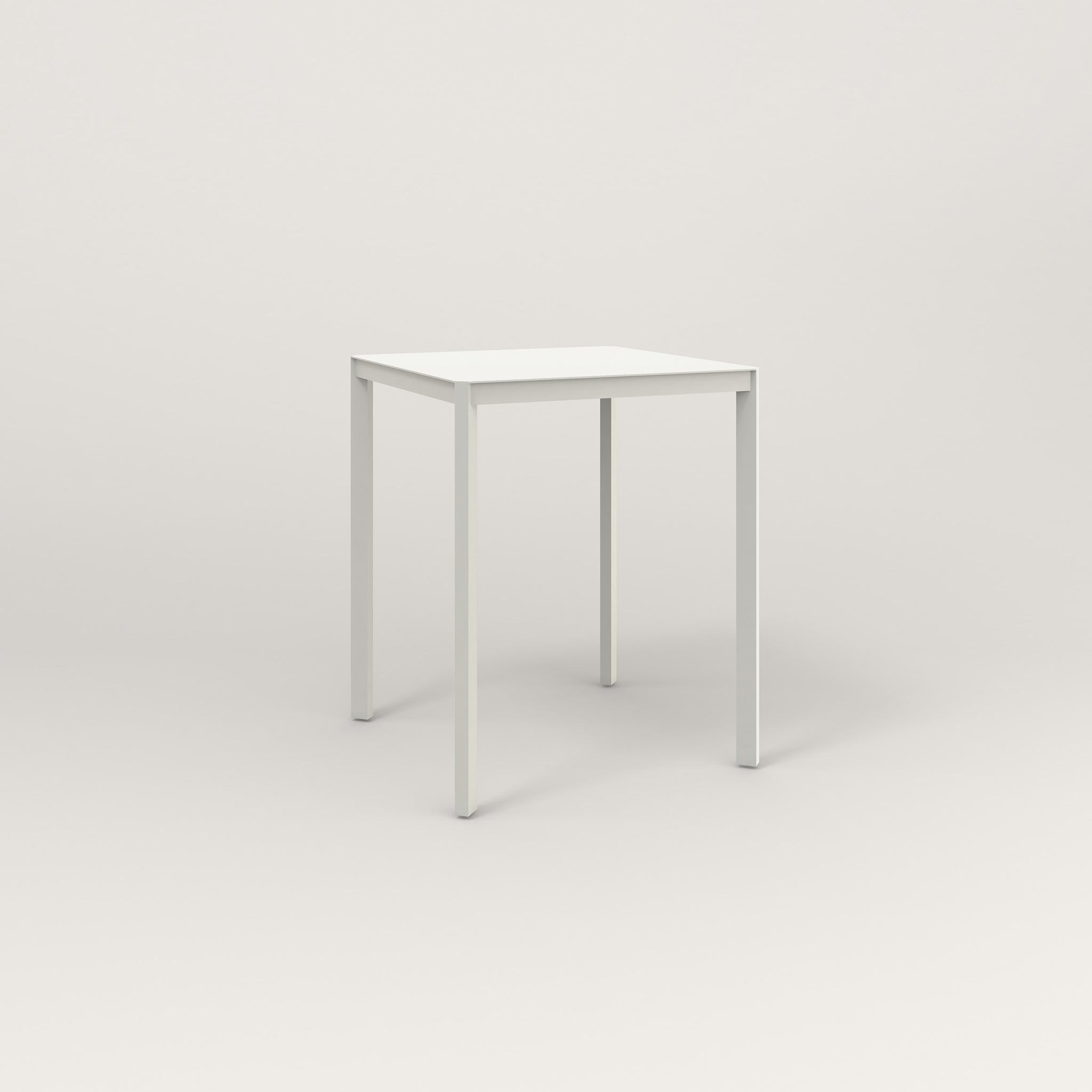 RAD Solid Square Cafe Table, in solid steel and white powder coat.