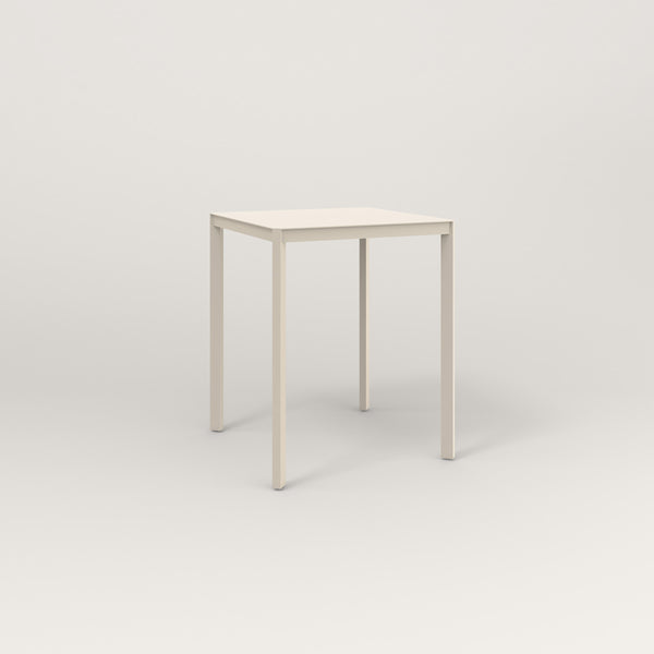 RAD Solid Square Cafe Table, in solid steel and off-white powder coat.