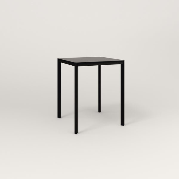 RAD Solid Square Cafe Table, in solid steel and black powder coat.