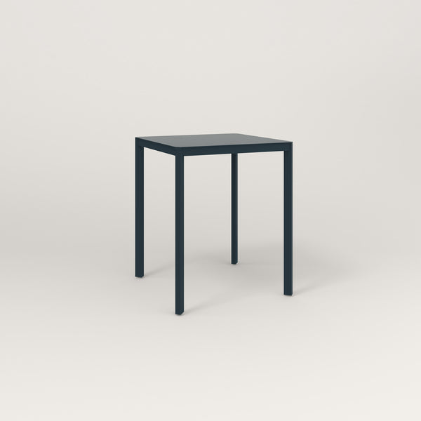 RAD Solid Square Cafe Table, in solid steel and navy powder coat.