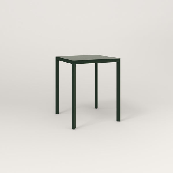 RAD Solid Square Cafe Table, in solid steel and fir green powder coat.