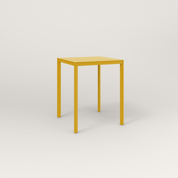 RAD Solid Square Cafe Table, in solid steel and yellow powder coat.