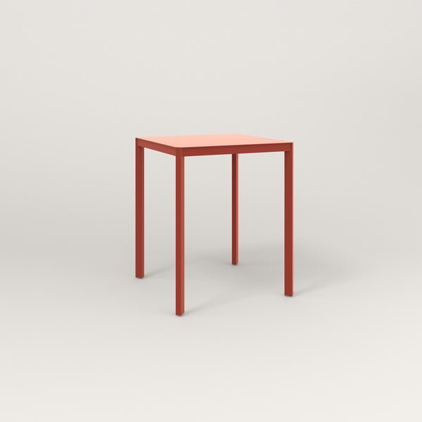 RAD Solid Square Cafe Table, in solid steel and red powder coat.