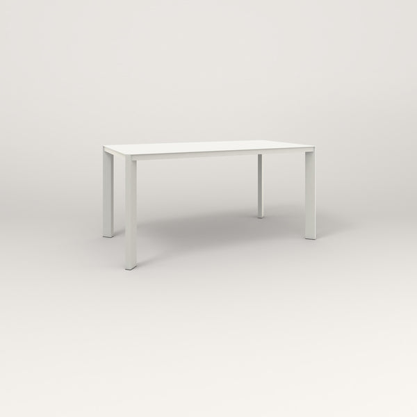 RAD Solid Table in solid steel and white powder coat.