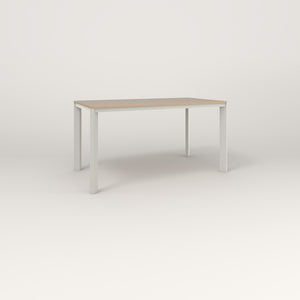 RAD Solid Table in tricoya and white powder coat.