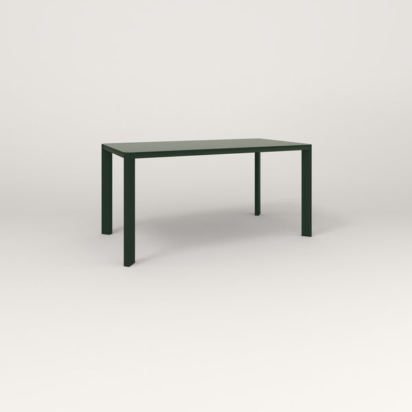 RAD Solid Table in solid steel and fir green powder coat.