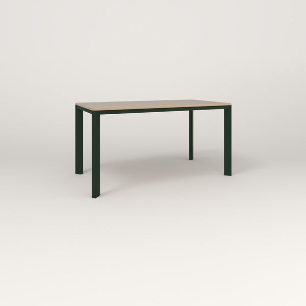 RAD Solid Table in tricoya and fir green powder coat.