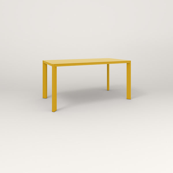 RAD Solid Table in solid steel and yellow powder coat.