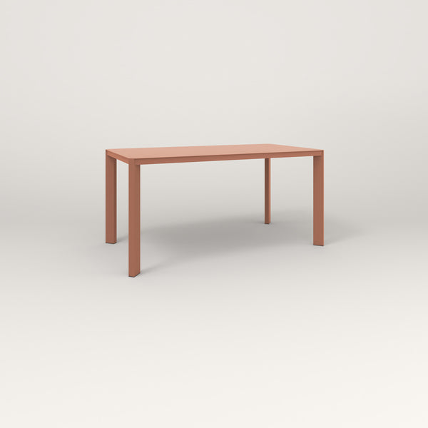 RAD Solid Table in solid steel and coral powder coat.