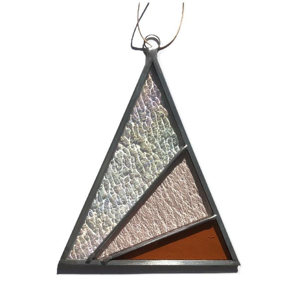 Stained Glass Rays Triangle Suncatcher — Iridescent