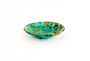 Stained Glass Bowl — Turquoise Terrazzo