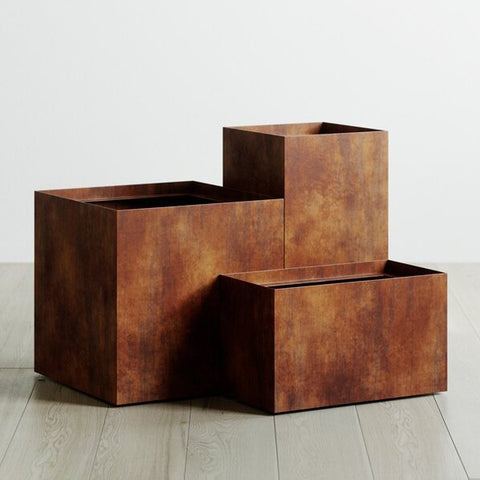 Rusted Steel Planters