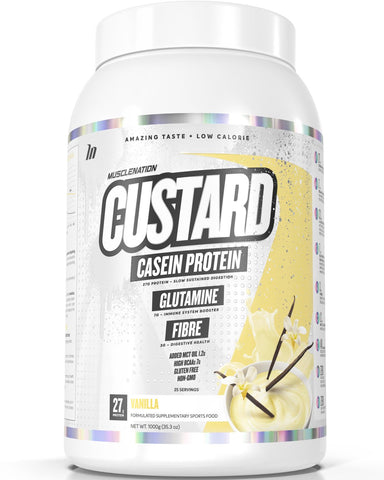 MUSCLE NATION CASEIN PROTEIN CUSTARD