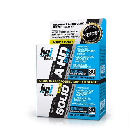 Bpi Sports A-HD Elite/SOLID Combo 2 Bottles 30 Capsules Each