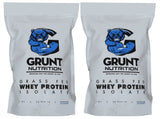 Grunt Nutrition Whey Protein Isolate x2 1kg Bag Combo
