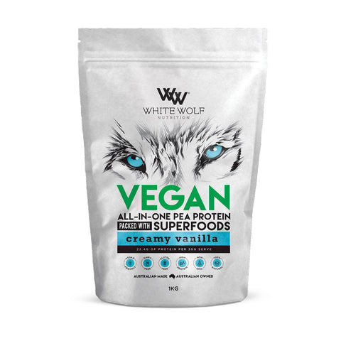 White Wolf Nutrition Vegan All-IN-ONE Pea Protein Packed with Superfoods