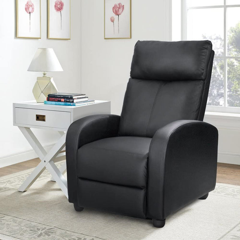 Victone Recliner Chair Home Theater Seating  Single Sofa Recliner Padded Seat  for Living Room
