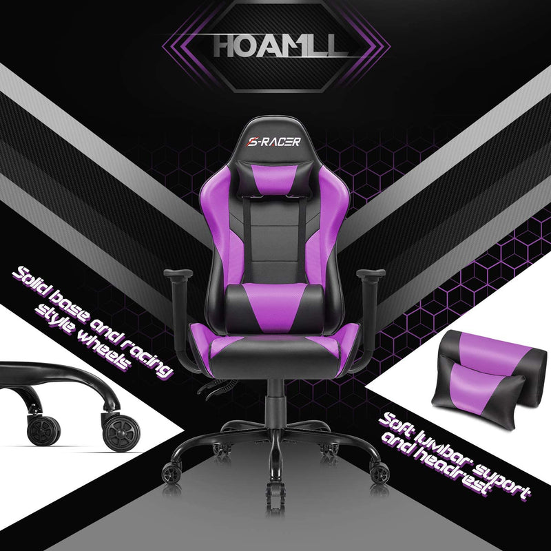 Victone Homall Gaming Office Chair Computer Chair High Back Racing Desk Chair PU Leather Adjustable Seat Height