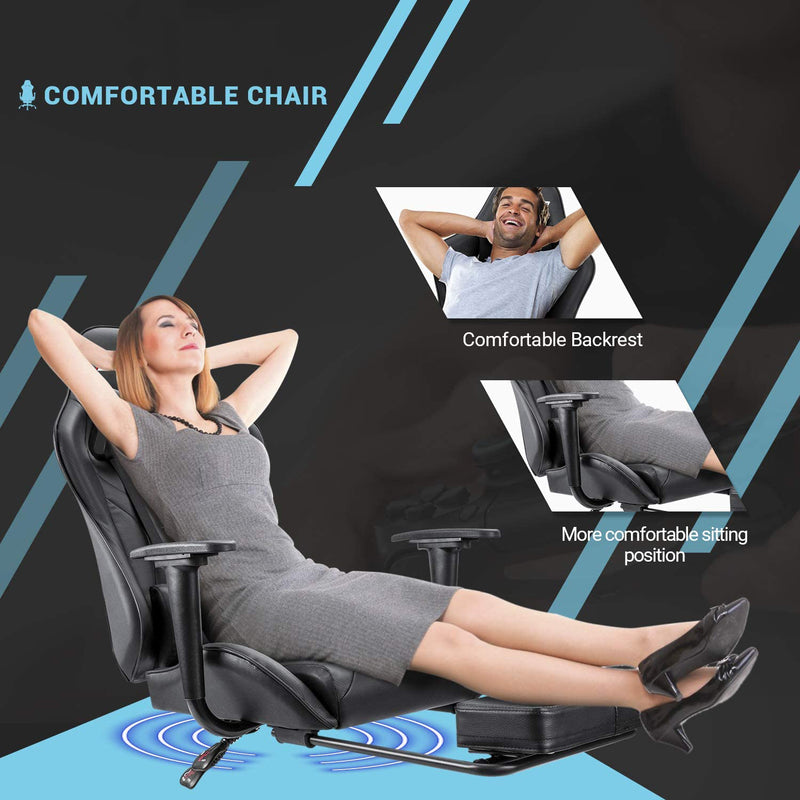 Victone Gaming Chair Computer Office Chair Ergonomic Desk Chair with Footrest Racing Executive Swivel Chair Adjustable Rolling Task Chair
