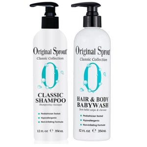 Original Sprout Classic Shampoo + Hair & Body Babywash 12oz Bundle