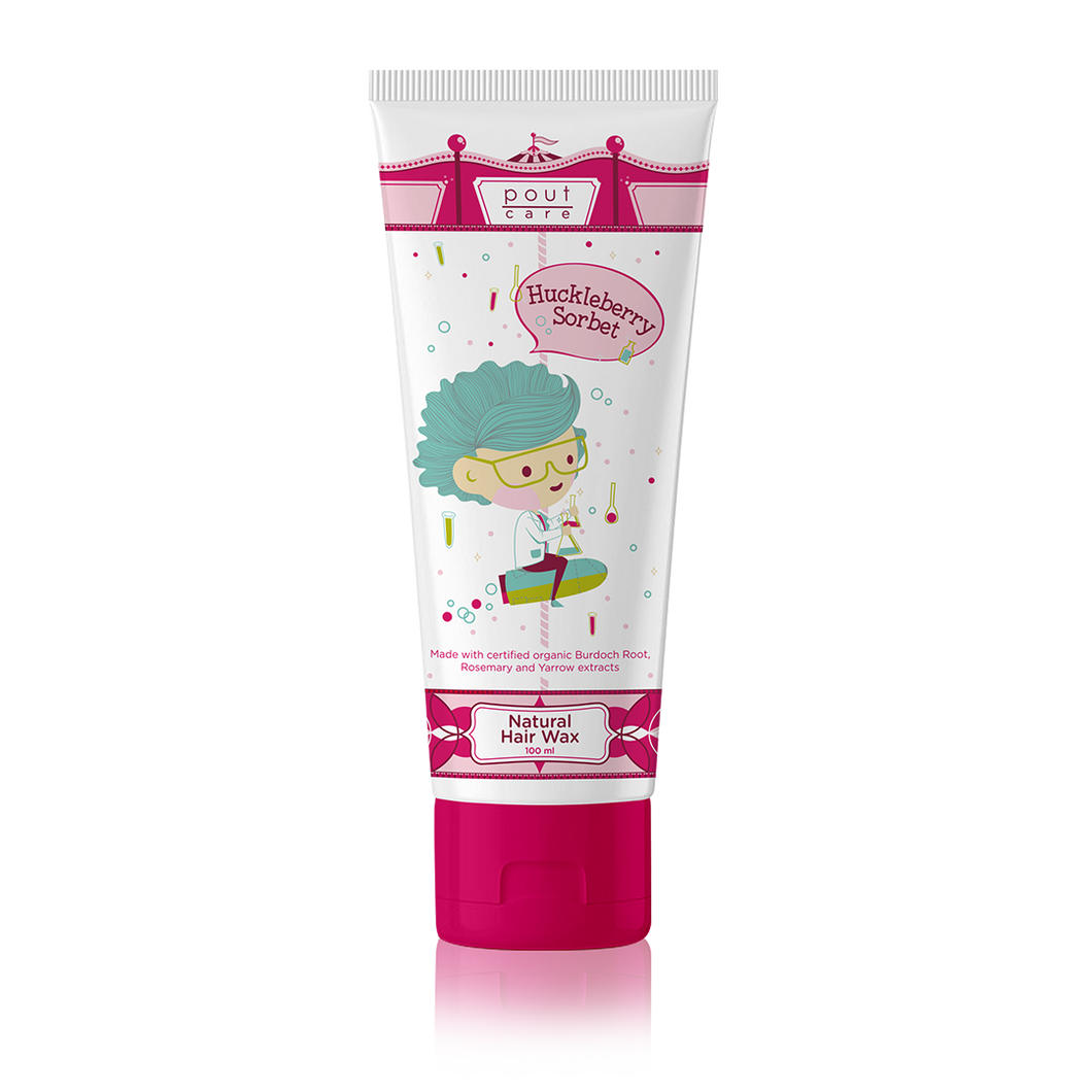 pout Care Huckleberry Sorbet Natural Hair Wax 100ml