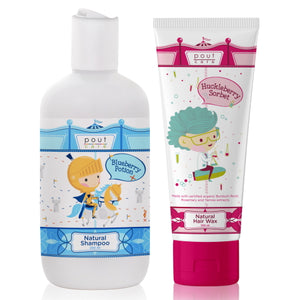 pout Care Natural Shampoo and Hair Wax Bundle