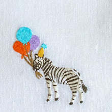 Load image into Gallery viewer, Party Zebra Linen Napkins