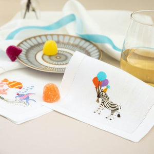 Party Zebra Linen Napkins