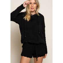 Load image into Gallery viewer, Black Cozy Knit Lounge Shorts