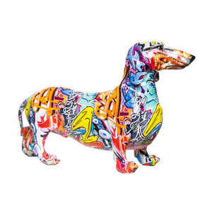 Graffiti Dachshund Sculpture