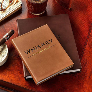 Whiskey Cocktails Leather Book