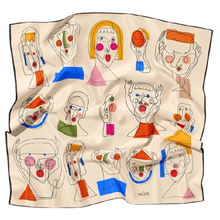 Load image into Gallery viewer, Mur People Silk Scarf